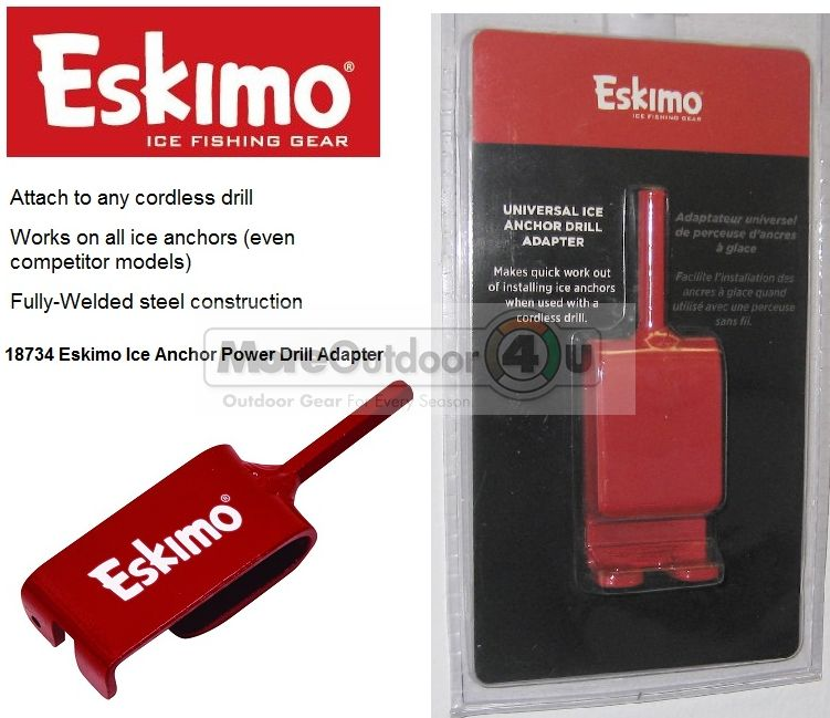 Eskimo 18734 Universal Ice Anchor Power Drill Adapter