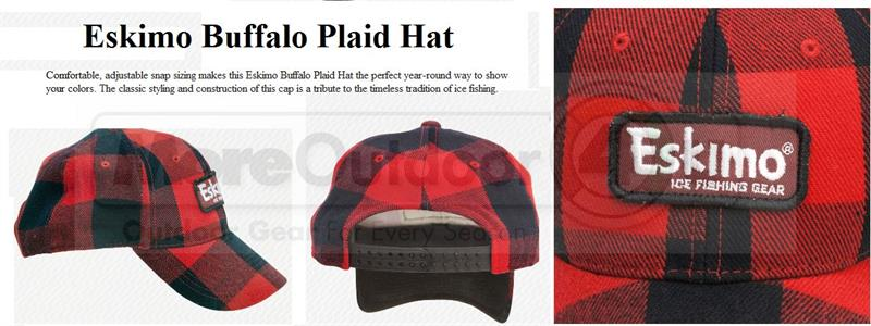23051 Eskimo Ice Fishing Gear Buffalo Plaid Hat c576181c5db4