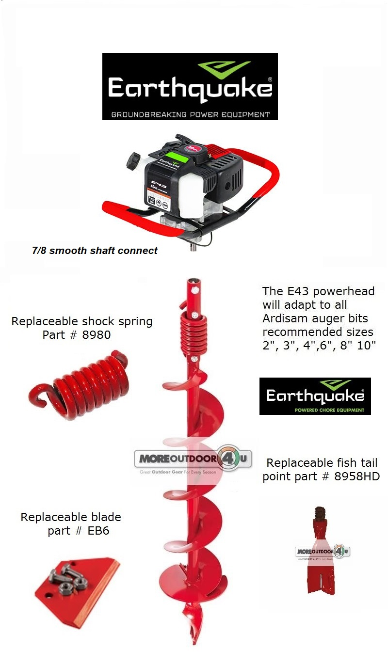 NEW E43 ONE MAN POST HOLE DIGGER EARTH AUGER POWERHEAD COMBO